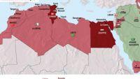 Cartographie des révoltes au Maghreb et au Moyen-Orient